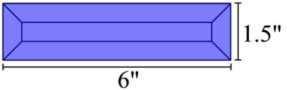 1.5x6 Blue Bevels
