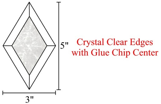3x5 Diamond Glue Chip Bevels