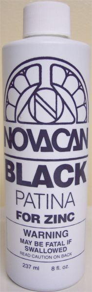 Novacan Black Patina for Zinc